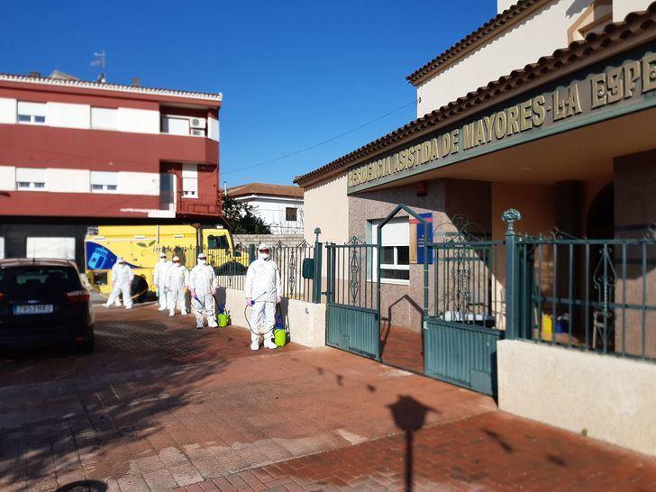 El plan de limpieza actúa en residencias y centros sociosanitarios de La Manchuela y Campos de Hellín