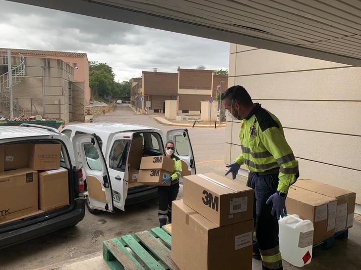 Áreas de Atención Integrada de la provincia de Albacete reciben 25.600 test rápidos y 79.000 artículos de protección