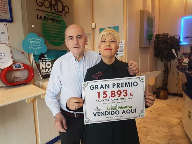 Premio de 15.893 euros para un boleto de Primitiva validado en Albacete, en Menéndez Pidal