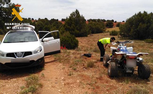 La Guardia Civil tuvo que socorrer a un vecino de El Bonillo, de 21 años, gravemente herido tras accidente de quad