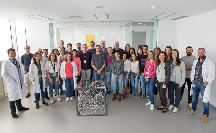 El Hospital Nacional de Parapléjicos de Toledo cuenta con una escultura del 'Proxecto Neuronas'