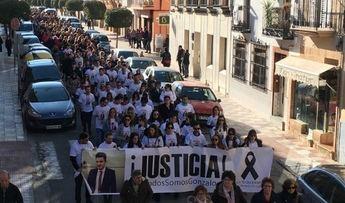 Manifestación en Herencia pidiendo justicia tras la muerte a golpes hace una semana del joven Gonzalo.