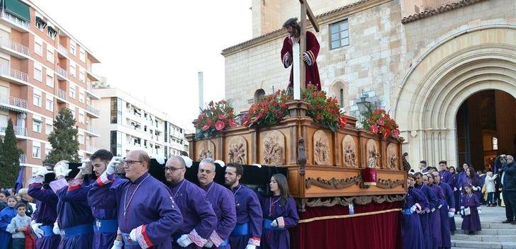 Procesión de la Pasión en Albacete en este Miércoles Santo.