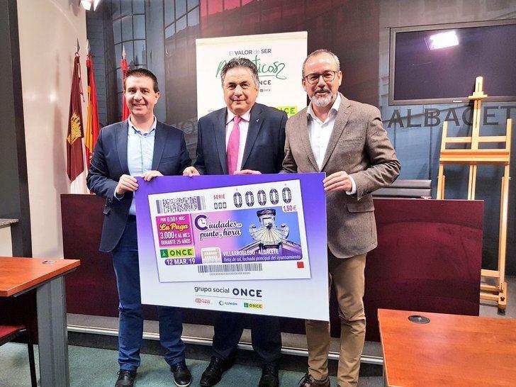 El reloj de sol del Ayuntamiento de Villarrobledo aparecerá en el cupón de la ONCE