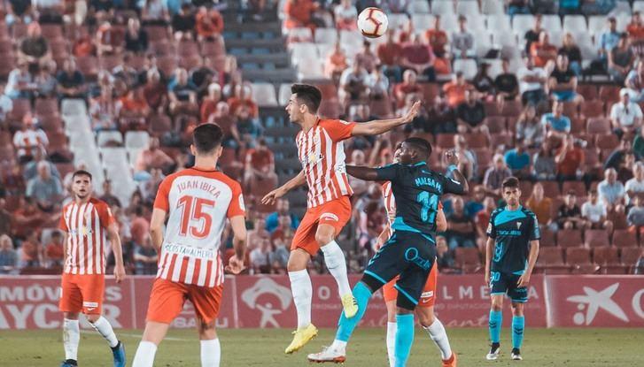 Imagen del último partido de Liga del Albacete, en Almería.