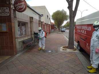El SEPEI refuerza el plan de desinfección del Ayuntamiento de La Roda