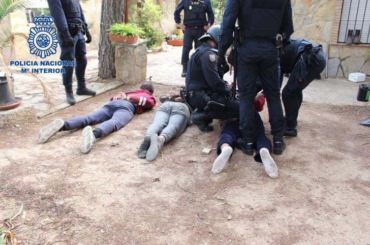 Desmantelada una plantación de marihuana en Alborea (Albacete) y detenidos tres hombres