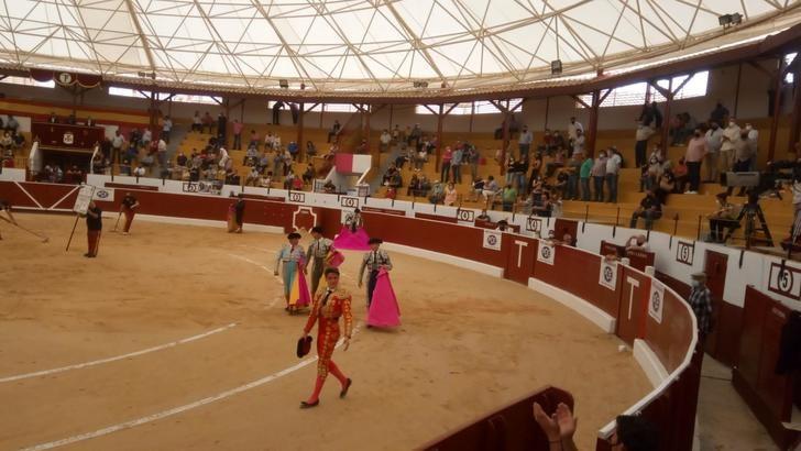 Bravos toros de Moisés Fraile en la corrida del Día de la Región en Tobarra