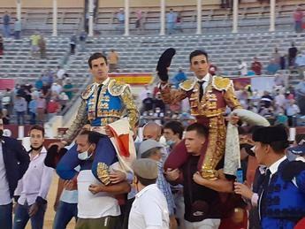 Rubén Pinar y Sergio Serrano se entienden muy bien con los Victorinos