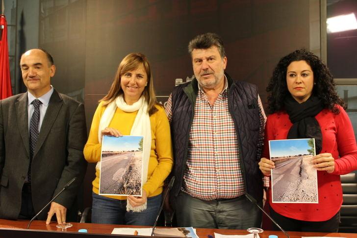 El PP de la Diputación exige el arreglo urgente de la carretera CM-3119 entre Munera y Villarrobledo