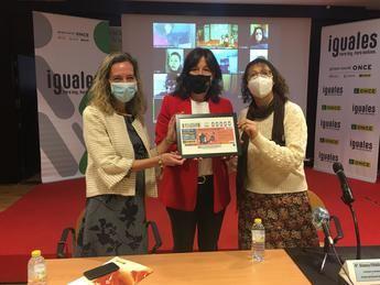 """El cupón de la ONCE grita """"Estamos Contigo"""" en el Día Internacional de la Violencia contra la Mujer"""