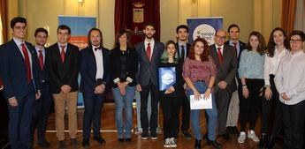 El salón de plenos del Museo municipal de Albacete, sede del torneo joven de debate sobre Europa