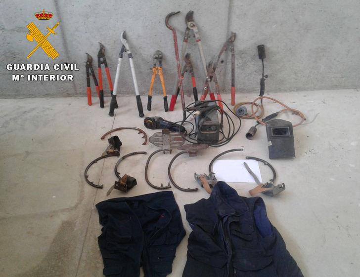 Detenidas 4 personas e investigadas otras 2 por robar una tonelada de cable de cobre en Albacete y Alicante