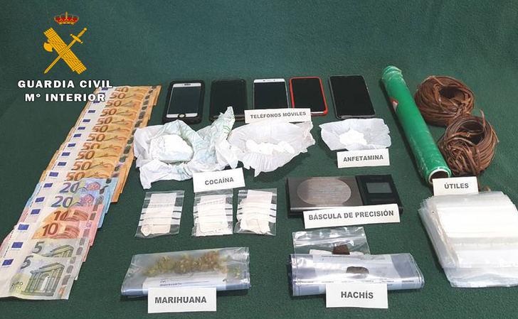 Detenidos tres vecinos de Madrigueras y uno de Albacete por tráfico de drogas