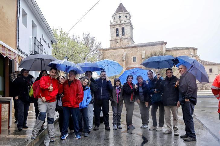 La ruta senderista del pasado domingo en Mahora fue suspendida tras la lluvia