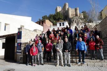 """Gran éxito el pasado domingo en la ruta senderista la """"Ruta Batalla de Almansa 1707"""""""