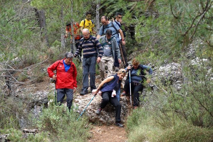 Fin de semana completo con las rutas senderistas en Paterna del Madera y Balazote