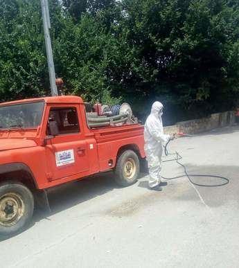 La Diputación de Albacete ha realizado labores de desinfección y limpieza en 47 localidades tras sus mercadillos municipales