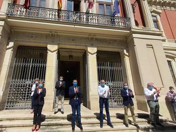La Diputación de Albacete se une al minuto de silencio en recuerdo a todas las víctimas de la pandemia