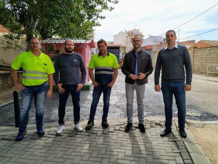 Francisco Valera revisa las obras que se están llevando a cabo en Ontur con cargo al Plan de Obras y Servicios 2018
