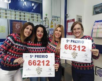 Imágenes de los premios repartidos en Albacete en el sorteo de Navidad