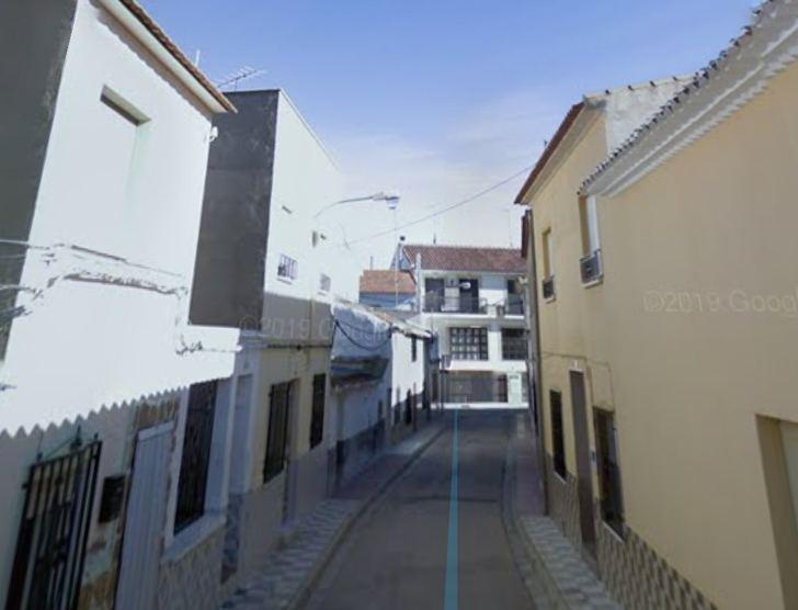 La calle del incendio en Pozo Cañada