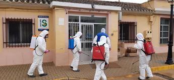 GEACAM desinfecta el edificio de Albacete en el que hay un brote de coronavirus