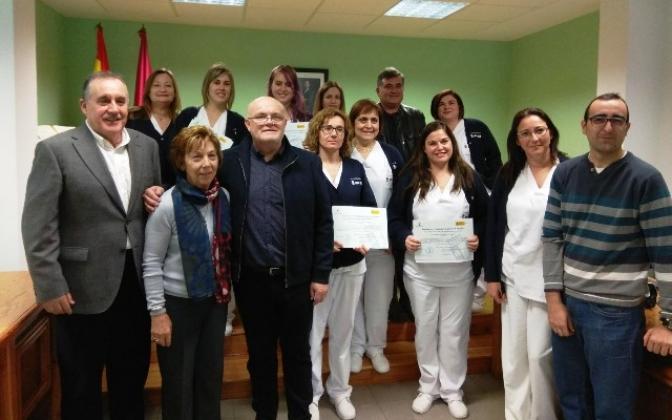 Termina el taller de empleo 'Auxiliares de Geriatría' que se ha venido celebrando en Hoya Gonzalo