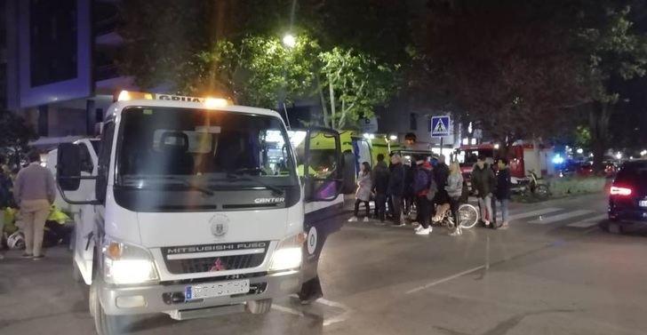 Imagen del accidente de esta tarde en la Avenida de España