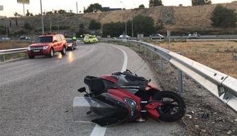 Imagen de archivo de un accidente de moto.
