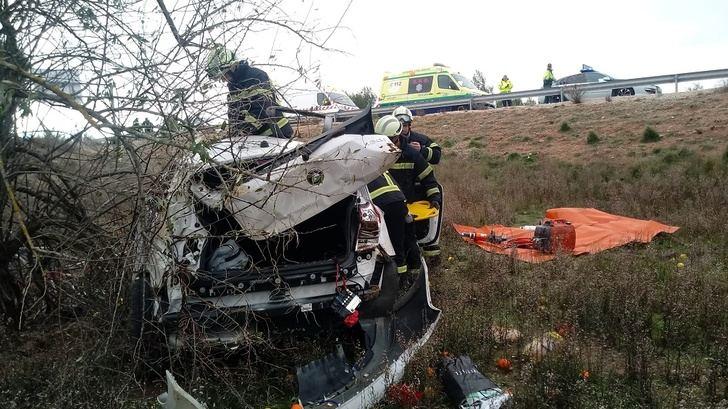 Un hombre de 81 años muerto en un choque de dos turismos en la A-30, en Pozo Cañada (Albacete)