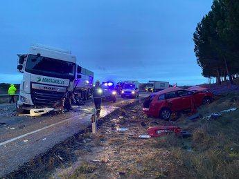 Trasladado a Albacete un hombre de 34 años herido en una accidente de tráfico en Villanueva de la Jara (Cuenca)