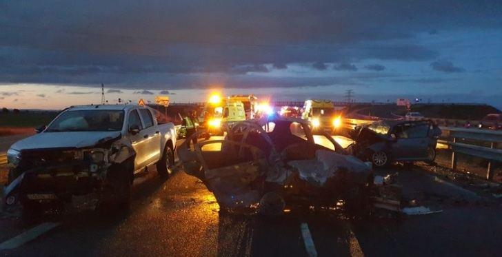 Un muerto y cuatro heridos en un accidente de tráfico cerca del polígono de Romica (Albacete), en la N-322