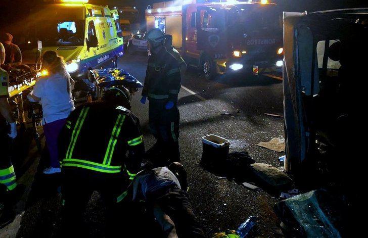 9 trabajadores del campo heridos en un accidente de tráfico en Montalvos (Albacete)