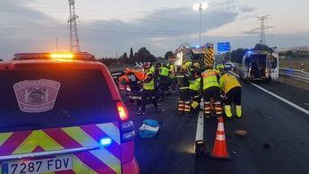 Un vehículo en sentido contrario provoca un accidente con 5 heridos y 7 coches implicados en Yuncler (Toledo)