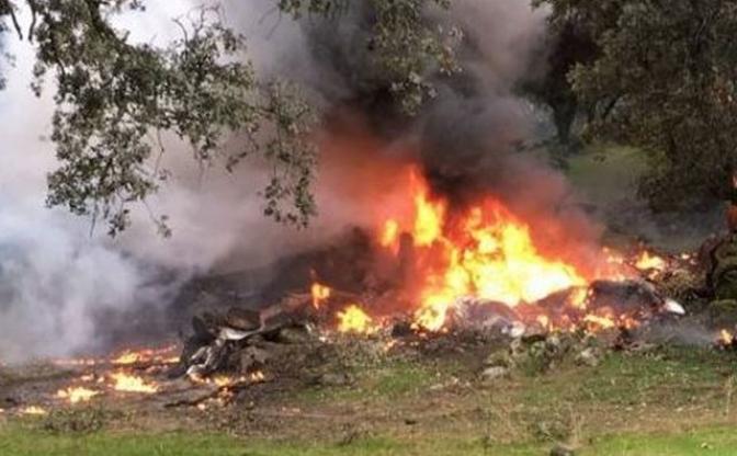 Imagen de archivo de otro accidente de avioneta en la provincia de Toledo.