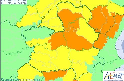 Castilla-La Mancha, en alerta naranja por fuertes nevadas este domingo, activa el Meteocam