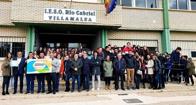El IES Río Cabriel de Villamalea recibe su Premio Agenda 21 Escolar 2018 de la Diputación de Albacete