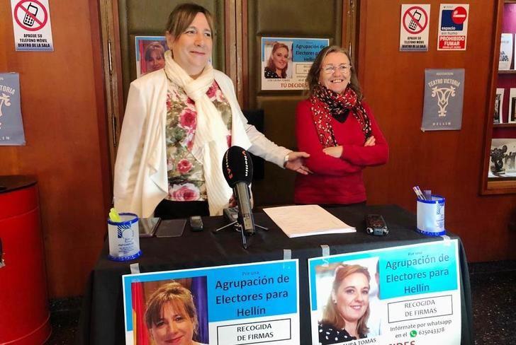 Maria Jesús López y agrupación de electores de Hellín comienzan la recogida de firmas