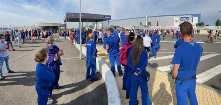 El comité interempresas de Airbus convoca huelga y manifestaciones el 23 de julio contra los despidos
