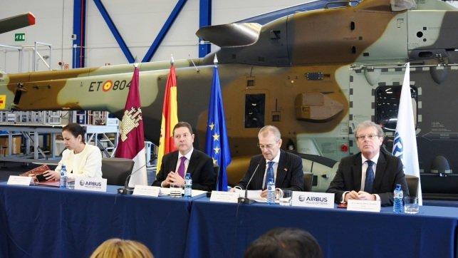 Page en una visita anterior a Airbus Albacete.