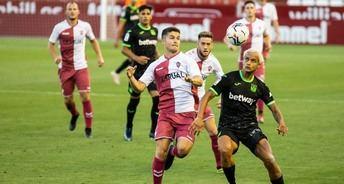 Imagen de un amistoso de pretemporada del Alba ante el Leganés.