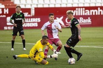 Imagen del amistoso del Alba contra el Leganés