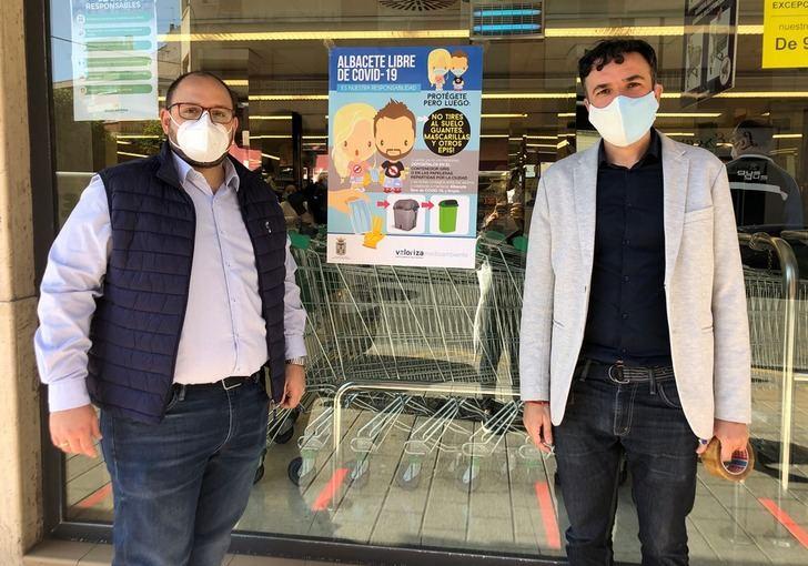 Albacete recuerda la importancia de tirar mascarillas y guantes en lugares habilitados