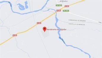 Un hombre de 65 años y una mujer de 23, fallecidos tras al estrellarse una avioneta cerca del aeródromo de Algodor (Toledo)
