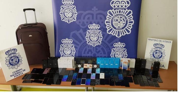 Detenidos 20 activos aluniceros por robar 32 tiendas de teléfonos en segundos, también en Albacete