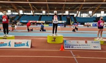 Ana Serrano, del Club Atletismo Albacete, se proclama campeona de España de salto de longitud
