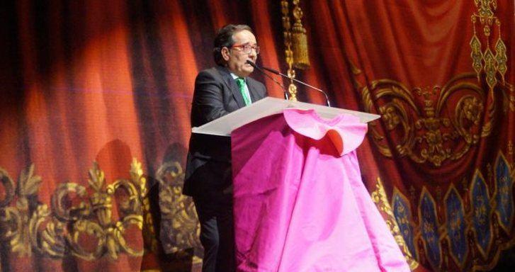 Ángel Calamardo en la presentación del pregón de la feria taurina de Albacete de 2015.
