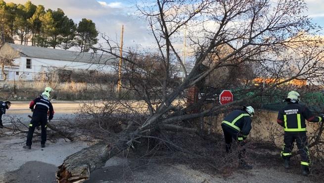 Ciudad Real, Toledo y Albacete, las provincias más afectadas por la lluvia y el viento que todavía continúa