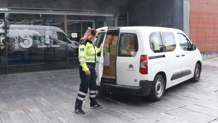 Más de 36 millones de artículos de protección enviados a los centros sanitarios de Castilla-La Mancha desde el inicio del coronavirus